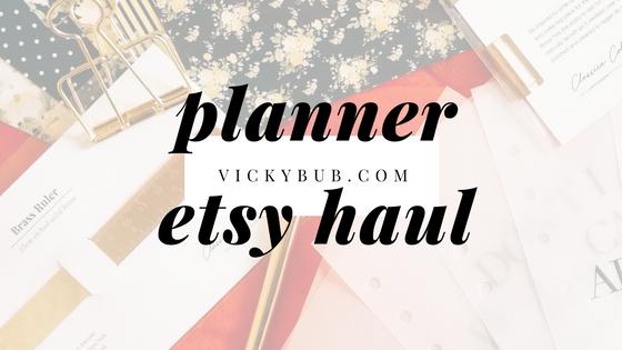 Planner Etsy Haul